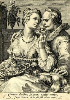 Hendrick Goltzius (Dutch, 1558-1617) Five senses: Smell (Обоняние). 1595 г. The British Museum