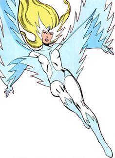 Snowbird (vôo alfa) (Marvel Comics) aterrando