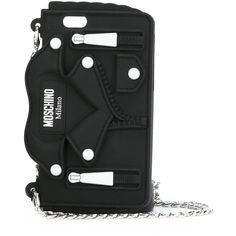 Moschino biker jacket iPhone 6/6s case (16980 RSD) ❤ liked on Polyvore featuring accessories, tech accessories, black and moschino