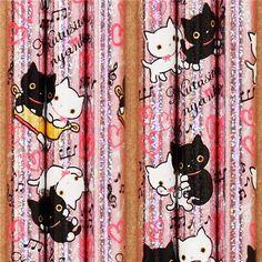 pale pink Kutusita Nyanko cat heart glitter pencil San-X