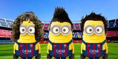 Resultado de imagen para minions de jugadores de futbol