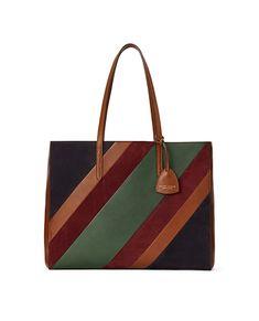 Striped Luxe Calf E W Tote Travel Handbags 2d1ed981770