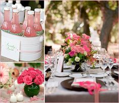 Wedding Shower Ideawe could spray paint paint buckets to keep drinks cold Wedding Bells, Wedding Favors, Our Wedding, Pink Grey Wedding, Party Planning, Wedding Planning, Bridal Shower Tea, Garden Party Wedding, Party Entertainment