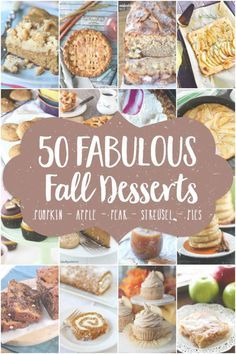 easy dessert recipes for kids to make by themselves, healthy desserts recipes, halloween desserts recipes - 50 Fabulous Fall Desserts Fall Dessert Recipes, Fall Desserts, Just Desserts, Fall Recipes, Holiday Recipes, Delicious Desserts, Halloween Desserts, Healthy Desserts, Brunch Recipes