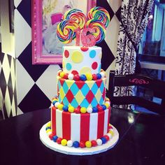 colorful, lolipops, Sweet 16 cake