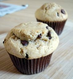 Great peanut butter and chocolate chip muffin recipe.