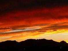 Atardecer Cerro del muerto en Aguascalientes México 2014