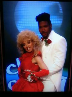 michael strahan & kelly ripa 80's prom photo