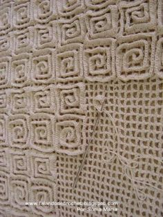 Crochet Rug Technique - crochet your mesh background then add rows of double crochet to the top. The different design possibilities of this technique are absolutely endless..