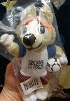"Zabivaka FIFA 2018 Official Mascot Plush Wolf World Soccer Licensed toy 18cm 7"""