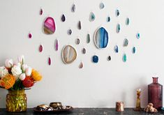 Agate Slice Art Wall https://blog.etsy.com/en/2014/how-tuesday-agate-slice-art-wall/?ref=fp_blog_image Etsy.com handmade and vintage goods