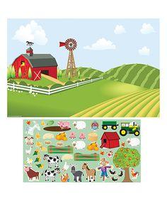 Look at this #zulilyfind! On-the-Go Travel Farm Mini Decal Set #zulilyfinds