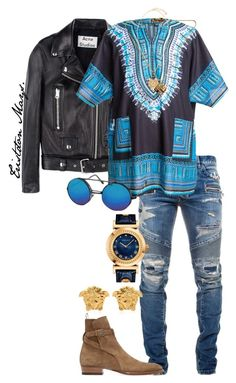 The Return Of Monroe. by monroestyles on Polyvore featuring polyvore Balmain Yves Saint Laurent Versace Acne Studios Smash Vintage Givenchy men's fashion menswear clothing MensFashion