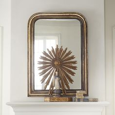 For front room on either side of pocket doors-- French Gilt Mirror