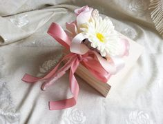 Silk and satin flowers wedding flower girl WAND by MKedraWedding