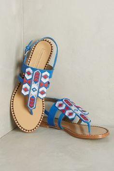 60f063c59 Cynthia Vincent Fairfax Sandals Blue Sandals Blue Sandals