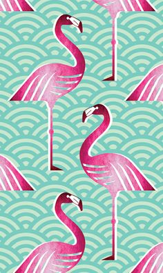 Pink flamingo fabric pattern. #flamingo #pattern #print
