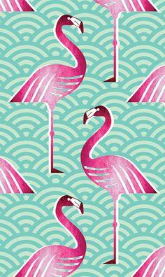 Pink flamingo fabric pattern. #flamingo #pattern #print