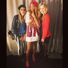 Yup! We definitely have more fun!! #blondelife #backstagebehavior @caradelevingne @georgiamayjagger - @badgalriri- #webstagram
