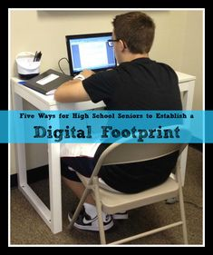 Five Ways for High School Seniors to Establish a Digital Footprint - Brilliant or Insane In High School, High School Seniors, Diy For Girls, Diy For Teens, Lisa, Digital Footprint, School Hacks, School Ideas, Survival