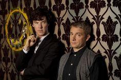Benedict as Sherlock and Martin as John