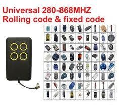 Auto scan frequency Universal remote control duplicator Multi frequency copy 280 Click visit to buy Garage Door Opener Remote, Universal Remote Control, Door Gate, Access Control, Consumer Electronics, Cool Things To Buy, Garage Doors, Coding, Free Shipping