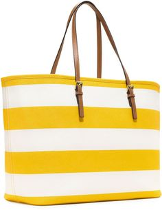 Michael Kors tote - yellow stripes!