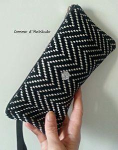 mini pochette Black & White