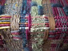Designing, planning, dyeing, winding, warping, threading, reeding, weaving, then maybe a bit of felting...and then you start again.