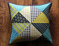 Chicopee Patchwork Pillow by maureencracknell, via Flickr