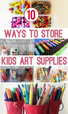 Beau Kidsu0027 Craft Materials A Chaotic Mess? Check Out These 10 Great Storage Ideas  For Organising Kidsu0027 Art And Craft Materials.