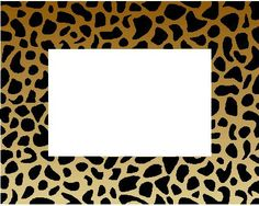 panterprint Safari Birthday Party, Jungle Party, Picture Wall, Picture Frames, Printable Frames, Diy Calendar, Frame Background, Borders And Frames, Frame Clipart