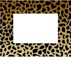 cheetah print border page borders pinterest cheetah print rh pinterest com cheetah print clip art free cheetah print clip art free