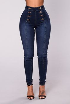 Fashion Nova has the best selection of women's high waisted jeans online. From high waisted flare jeans to high waisted skinny jeans and distressed denim to boyfriend high rise jeans, you'll find it all here. Best Jeans For Women, Pants For Women, Clothes For Women, Ripped Jeggings, Ripped Skinny Jeans, Dark Jeans, Dark Denim, Casual Jeans, Jeans Style