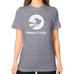 PEACE CORPS Unisex T-Shirt (on woman)