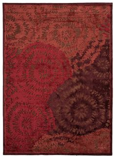 Fables Red/Orange Abstract Rug Rug Size: x