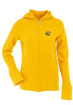 Wichita State Shockers Antigua Full Zip Jacket - Shockers Womens Gold Signature Long Sleeve Full Zip