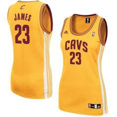 LeBron James Cleveland Cavaliers adidas Women's Alternate Replica Jersey – Gold - $69.99