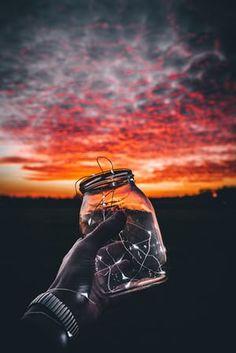 My jar of starsTaken during a fiery Sundown in Taunton, Somerset Photograph: whoisbenjamin/GuardianWitness