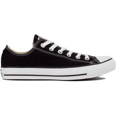 Converse Chuck Taylor All Star Classic Low Top Oxford Sneakers in... ($50) ❤ liked on Polyvore featuring shoes, sneakers, converse, sapatos, black, oxford lace up shoes, black trainers, converse trainers, converse oxford and black lace up shoes