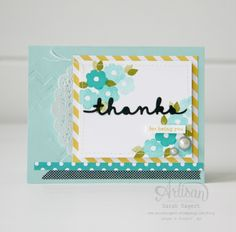 The Endless Thanks stamp set and Greetings Thinlits are a perfect pair! ~ Sarah Sagert