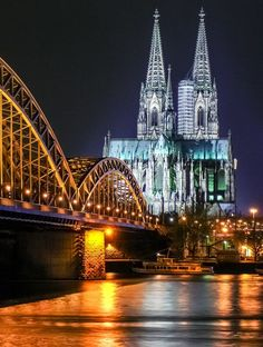 Hohenzollern Bridge over The River Rhine & Cologne Cathedral ~ Cologne, Germany