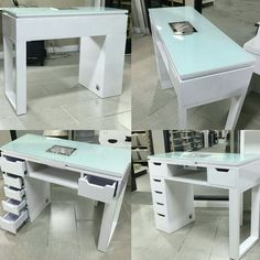 Ikea micke as vanity desk dressing table white for Small manicure table