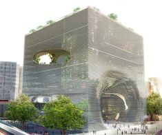 TEK Cube Building in Taipei, Taiwan.  Amazing example of sectioning to achieve a complex structure.