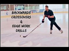 DRILLS TO IMPROVE BACKWARDS SKATING AND CROSSOVERS IN HOCKEY - YouTube