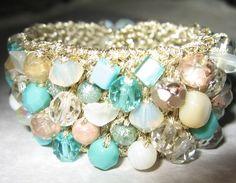 Freshwater pearl and starfish bracelet beach wedding beach jewelry
