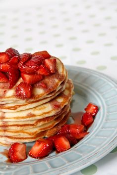 Pancakes with Balsamic Strawberries | Chef Julie Yoon