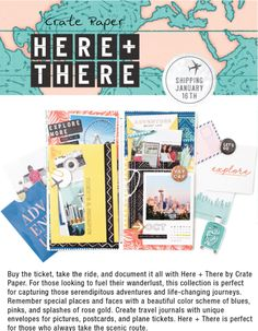 Introducing a NEW collection by Crate Paper. If you love traveling, this is for you!