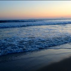 Night waves. Newport Beach March 2012