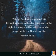 Yet the Lord will command his lovingkindness in the day time, and in the night his song shall be with me, and my prayer unto the God of my life. (Psalm 42:8 KJV)
